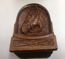 vintage bookends-HORSE HEADS, POLO, SOLID WOODLIKE RESIN, GREAT !