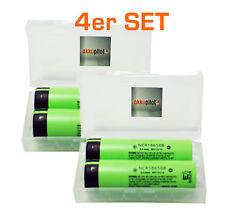 4er SET Panasonic NCR18650B Li-Ion Akku 3,7V 3400mAh, inkl. Akkubox