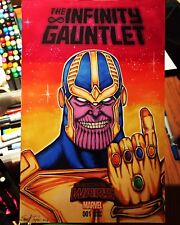 INFINITY GAUNTLET #1 original SKETCH COVER Thanos variant comic Wolverine 1 nm