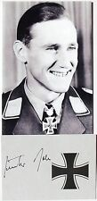 Gunther Rall German World War II Fighter Ace 275 Victories Signed Card        #2