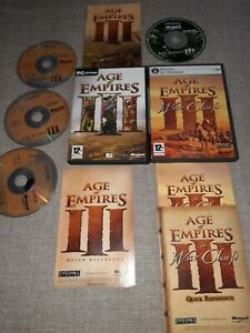 AGE OF EMPIRES 3 & AGE OF EMPIRES 3 THE WAR CHIEFS PC GAMES BUNDLE PREOWNED