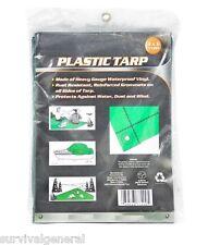Light Duty Green Tarp Cover 4' X 6' Poly Vinyl Shelter Camping Survival Kit