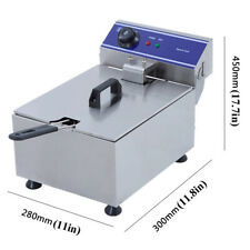 Commercial Electric Deep Fat Fryer Smokeless Single Tank Chips Mini Fried Grill