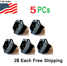 5Pcs Fuse Holder IEC 320 C14 Inlet AC Power Entry Socket 10A 250V