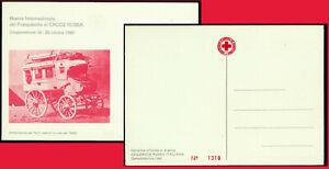 Cartolina Filatelica Croce Rossa Ambulanza Feriti Seduti Campomorone Genova 1980