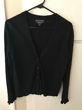 Banana Republic Women's Very Fine Italian Viscose Black Cardigan Size M