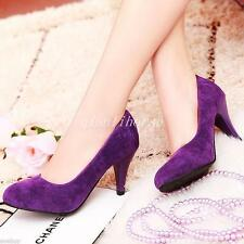 Wedding Shoes Womens Synthetic Leather/Suede Fabric Mid Heel Pumps Shoes Size