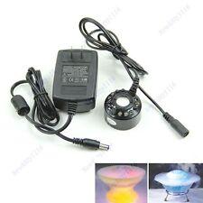 HOT Ultrasonic 12 LED Mist Maker Fogger Water Fountain Pond
