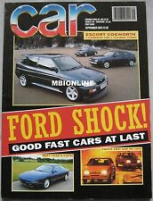CAR 09/1992 featuring VW Corrado VR6, Ford RS Cosworth, Mazda RX-7, Vauxhall