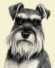MINIATURE SCHNAUZER dog - Full counted cross stitch kit