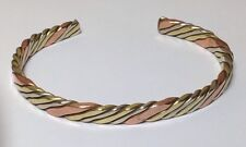 Copper, Brass + White Metal Medicine Cuff Bracelet New Design & Free Ship in USA