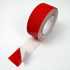 """Anti Slip 2"""" Red  Tape High Grip Adhesive Sticky Backed Non Slip Safety Flooring"""