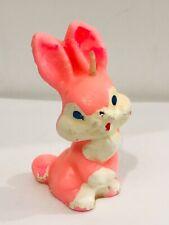 Vintage Gurley Easter Candle Bunny Rabbit Pink Unburned Unused Spring 3-1/4�