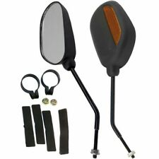 UNIVERSAL MOTORCYCLE SCOOTER MOBILITY  MIRRORS PAIR X2 8MM THREAD LEFT RIGHT