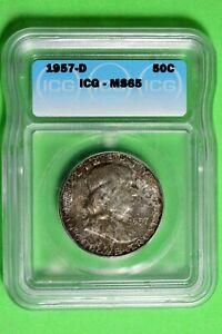 1957 D ICG MS65 Franklin Half Dollar #B26469