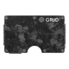 GRID FORGED CARBON MONEY CLIP CREDIT CARD HOLDER SLIM RFID BLOCKING WALLET