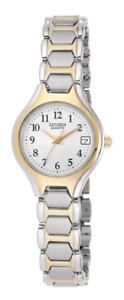 *BRAND NEW* Citizen Women's Quartz White Dial Two Tone Bracelet Watch EU2254-51A
