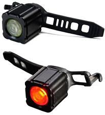 Xeccon Geinea III Alloy USB Rechargeable Front & Rear Bike Light Set XLA012BLK
