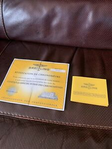 Breitling International Warranty Booklet And Certificate