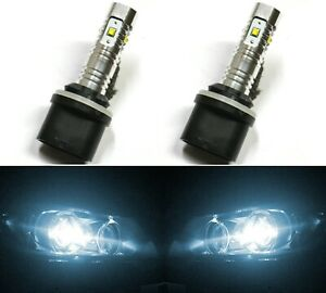 LED 30W 885 H27 White 6000K Two Bulbs Fog Light Replacement Upgrade Lamp OE