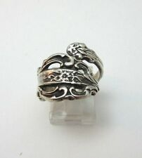 STERLING SILVER CELLINI WRAP SPOON RING SIZE 7.5 ***