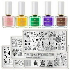 BORN PRETTY Stamping Kit Geometry Flower Nail Stamp Plates Polish Templates Kit