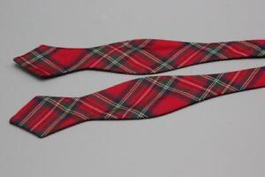 POLO RALPH LAUREN Silk Bow Tie. Red Green Blue Tartan Plaid