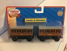 Thomas' Coaches- ANNIE AND CLARABEL -NEW in pkg - for wooden tracks- Free Ship!