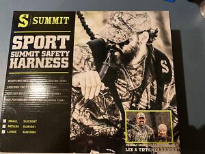 LARGE SUMMIT SPORT HUNTER SAFETY HARNESS/FALL ARREST SYSTEM TREESTAND DEER HUNT