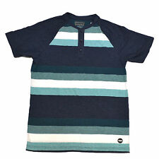 Levis Shirt Mens Henley Buttons Striped Solid Black Gray Blue Orange Aqua New
