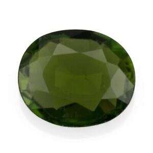 Chrome Tourmaline 0.76ct. Eye clean with a forest green colour and an oval cut