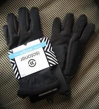 ISOTONER Men's WATERPROOF smarTouch Warm Lined Active Gloves BLACK #75537