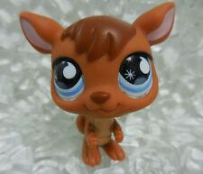 LPS #682 Brown Kangaroo Blue Eyes Littlest Pet Shop Year 2007