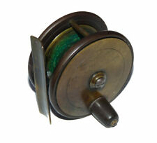 """rare Farlow half ebonite and brass 2 3/4"""" trout fly reel with check clicker c..."""