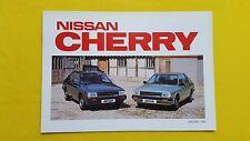 Nissan Cherry DX GL Auto 1.0 1.5 brochure car sales catalogue January 1983 MINT