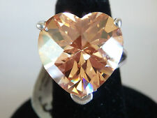 LIEBE*Prachtvoller 925er Silber Ring Zirkonia Herz 18 mm*NP 149*