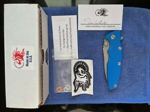 RARE Hinderer Eklipse Swedged Spear M390 Blue G10 Exclusive Discontinued NEW