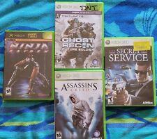 Xbox Bundle - Ghost Recon Future , Ninja Gaiden, Secret Service, Assassins Creed