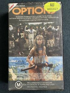 1989 Options VHS MA15+  Joanna Pacula Adventure Comedy  Ex Rental Clamshell