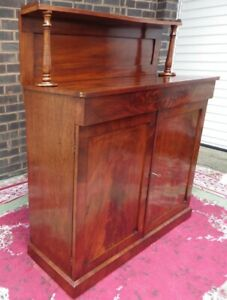 Antique Chiffonier Petite Sideboard Regency Mahogany FOR A NURSES SUPPORT FUND
