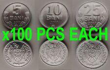 MOLDOVA 5+10+25 Bani ALL DATED 2017 KM-2-7-3 UNC WHOLESALE LOT 100 SET = 300 PCS