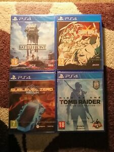 Factory Sealed PlayStation 4 games bundle