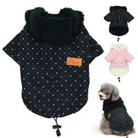 Dog Winter Coats for Small Dogs Chihuahua Clothes Warm Fleece Pet Jacket Hoodie