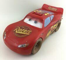 """Dirt Track Lightning McQueen Cars 14"""" Lg Talking Moving Eyes Car Disney 2006"""