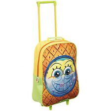 NEW OFFICIAL SpongeBob SquarePants Kids Case Luggage Travel Trolley Wheeled Bag