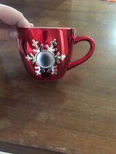 Things Remembered Christmas Mug W/ Engravable Plate Red Metallic
