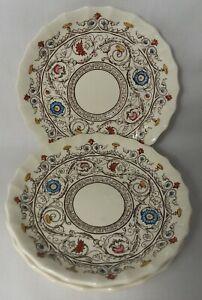 Spode Florence Pattern Porcelain Saucer Copeland Discontinued Floral Scroll