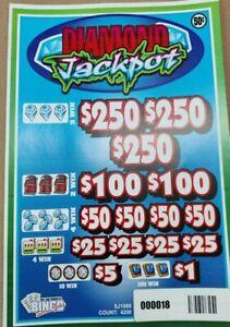 NEW pre tips pull tickets .50c DIAMOND JACKPOT - Instant Tabs .50c