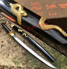 Snake Theme Japanese Wakizashi Sword Katana Sharp For Battle Samurai Knife Saber