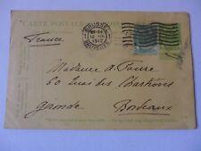 ENTIER POSTAL 1912  BRUXELLES  BORDEAUX  timbre 5 c carte postale